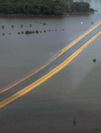 Flooding in the spring of 2011 put thousands of acres of cropland under water as well as roads.